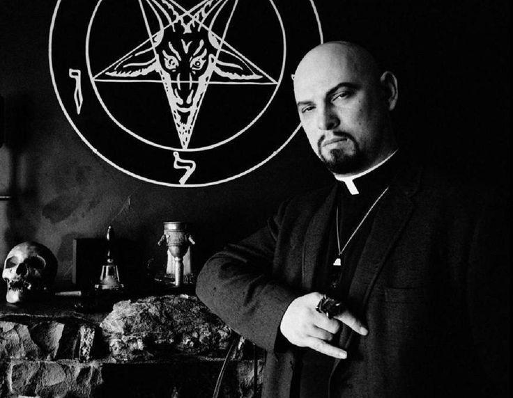 LaVey High Priest at altar