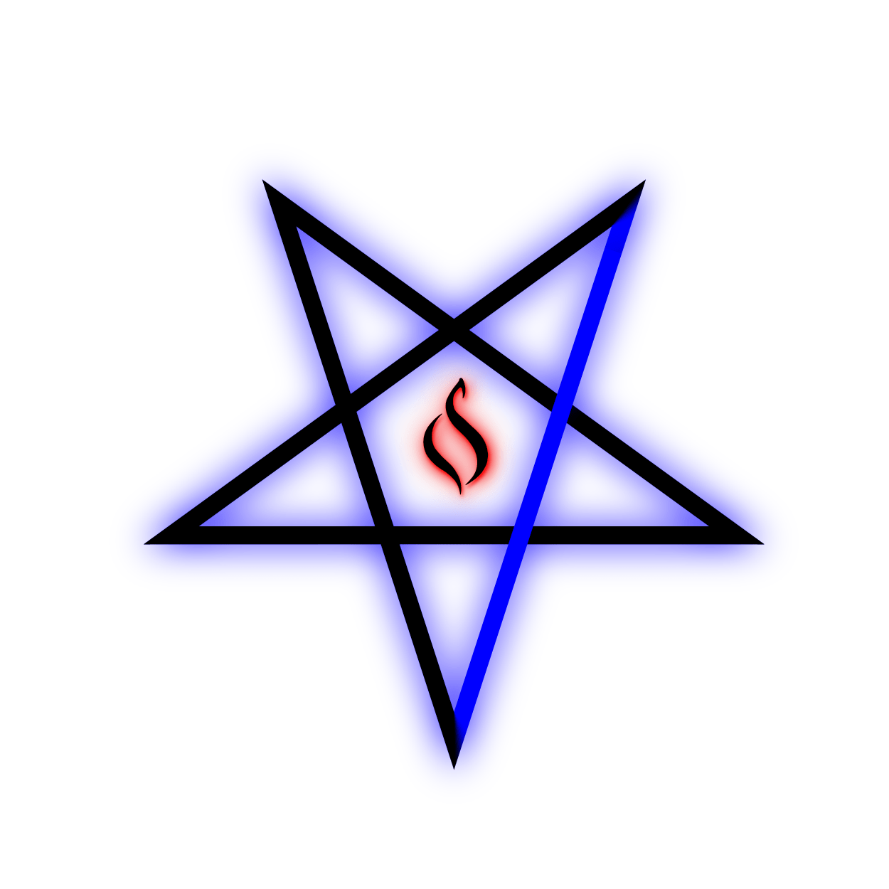 Pentagram Blue Flame